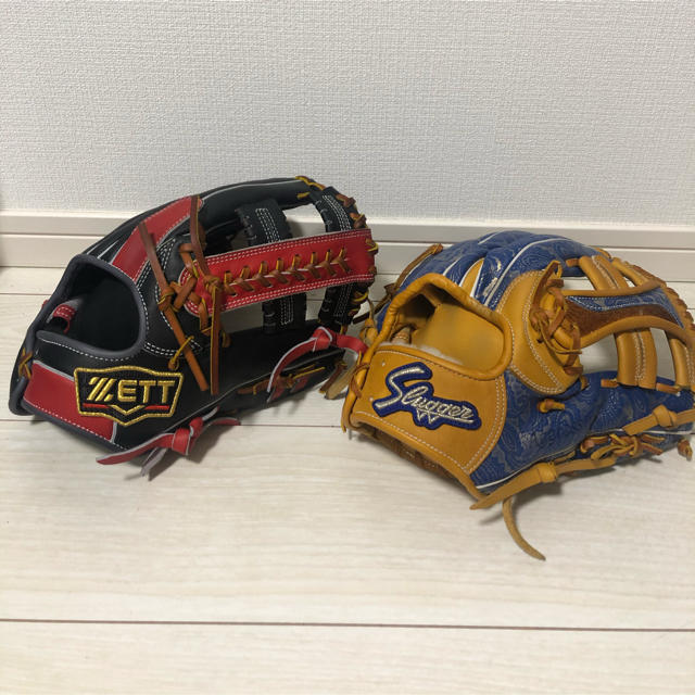 ZETT(ゼット)のスラッガー・ゼット 限定モデル(源田、浅村) スポーツ/アウトドアの野球(グローブ)の商品写真