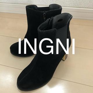 イング(INGNI)の 新品★INGNI イング★ファスナー付サイドゴアブーツ (ブーツ)