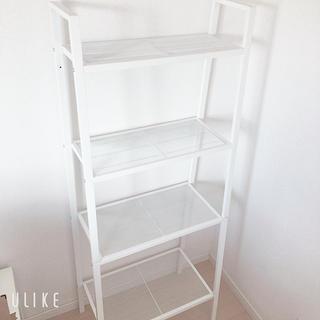 IKEA - 【美品】ドライバー付き ホワイト LERBERG シェルフユニット IKEA