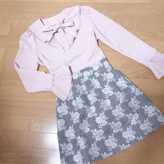 evelyn - アンミール  花柄スカート 台形スカート