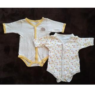 西松屋 - ボディスーツ 長袖60サイズ 2枚セット