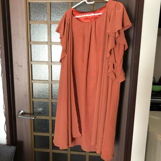 シマムラ(しまむら)のドレス(オレンジ)(ミディアムドレス)
