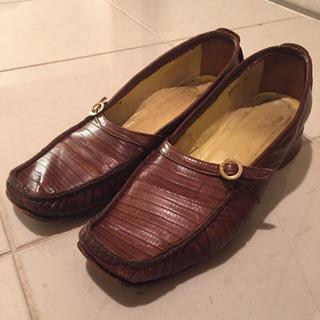 イタリア製 ワニ皮(ローファー/革靴)