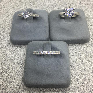 CZダイヤモンド SILVER リング 3点セット(リング(指輪))