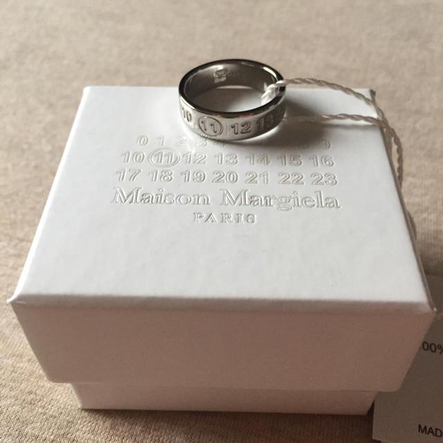 Maison Martin Margiela(マルタンマルジェラ)の値下S新品 マルジェラ ナンバリング ロゴ リング 19SS シルバー メンズのアクセサリー(リング(指輪))の商品写真
