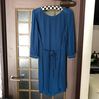 エイチアンドエム(H&M)のドレス(青緑)(ミディアムドレス)