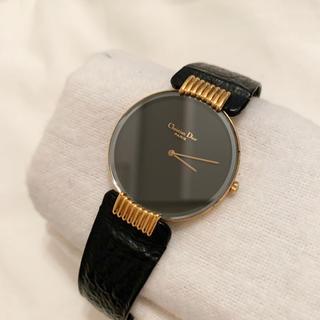 クリスチャンディオール(Christian Dior)の【稼働品】【大人気】ディオール◆ブラックムーン♡腕時計(腕時計)