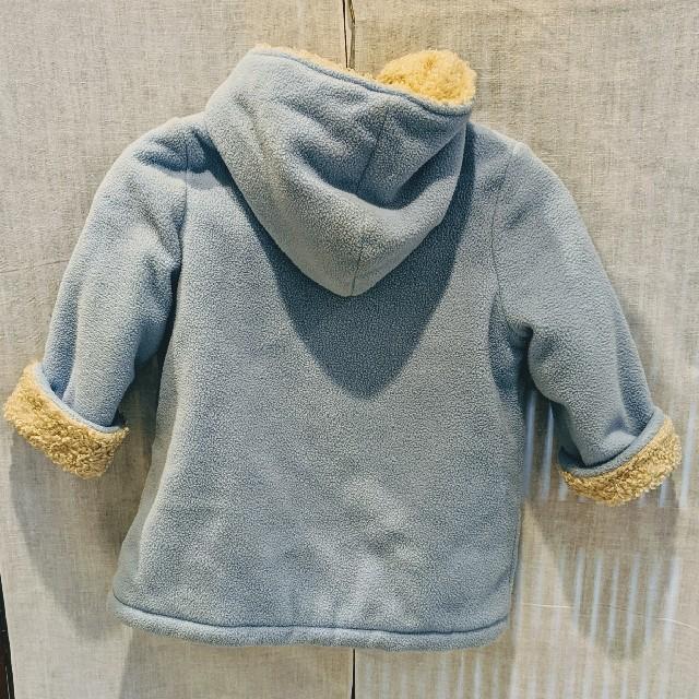 petit main(プティマイン)のフード付きダウンコート キッズ/ベビー/マタニティのキッズ服 女の子用(90cm~)(コート)の商品写真