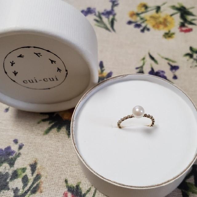 cui-cui キュイキュイ 淡水パールピンキーリング 3号 レディースのアクセサリー(リング(指輪))の商品写真