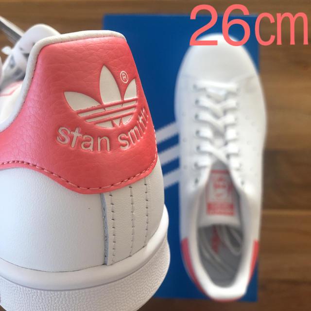 adidas(アディダス)の【レア】 希少カラー 26㎝ アディダス スタンスミス ホワイト ピンク メンズの靴/シューズ(スニーカー)の商品写真
