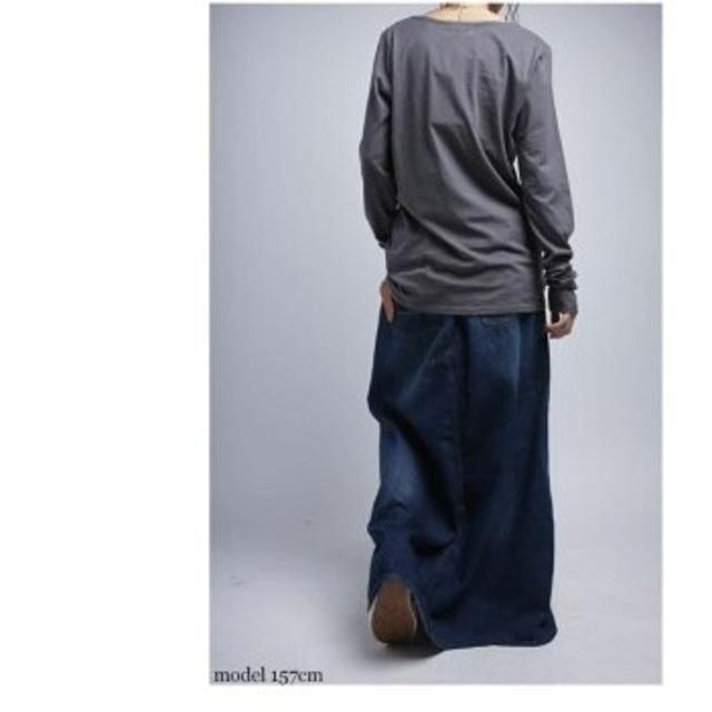 antiqua(アンティカ)のモン吉様専用 antiqua  スカート見えのデニムパンツ レディースのスカート(ロングスカート)の商品写真