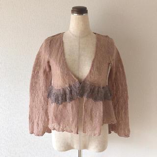 アクシーズファム(axes femme)のlace  刺繍  feminine  tops(カーディガン)