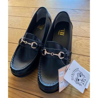 シマムラ(しまむら)のプチプラのあや しまむら クロコビットローファー M 黒(ローファー/革靴)