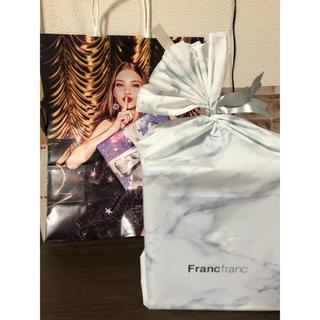 Francfranc - フランフラン  シェルランプ ピンク