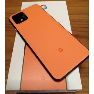 ☆Google pixel4 SIMフリー オレンジ 超美品 オマケ有☆グーグル