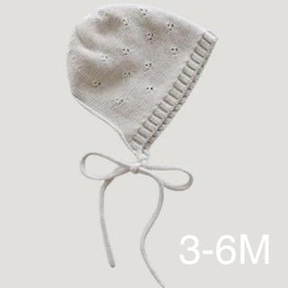 ボンポワン(Bonpoint)の新品 jamie kay  ボンネット ベビー オートミール(帽子)