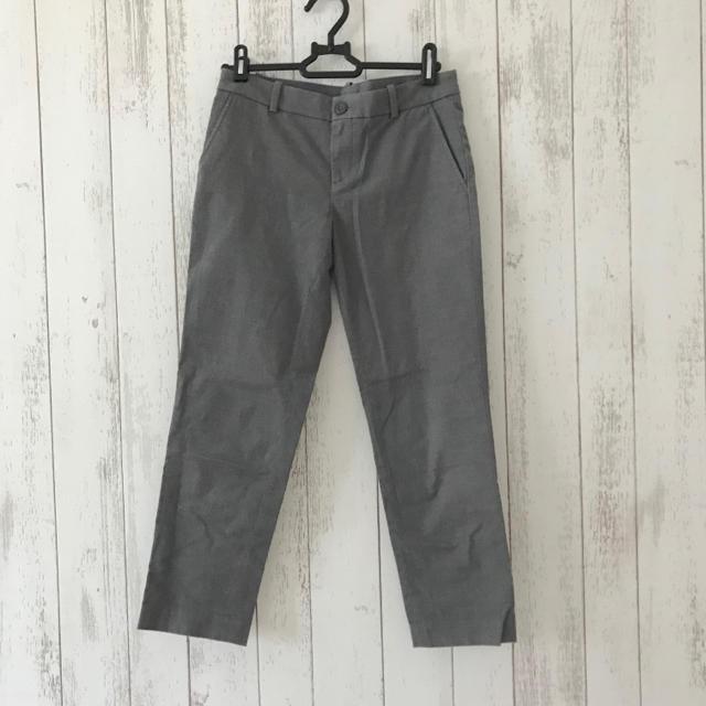 UNIQLO(ユニクロ)の2色セット◆UNIQLO アンクルパンツ グレー・黒 レディースのパンツ(クロップドパンツ)の商品写真