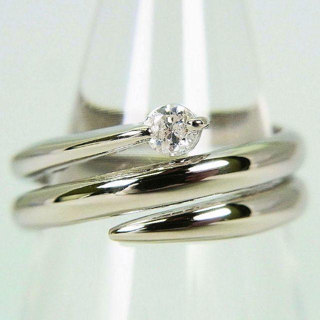 Pt900 ダイヤモンド ピンキー リング 3号[g98-3] レディースのアクセサリー(リング(指輪))の商品写真