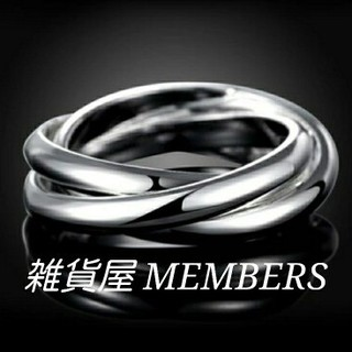 送料無料12号クロムシルバーサージカルステンレス3連トリニティリング指輪値下げ(リング(指輪))