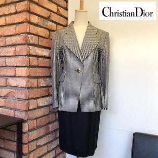 クリスチャンディオール(Christian Dior)の美品☆Christian Dior☆ジャケット/スカート☆サイズ7☆ブラック系(スーツ)