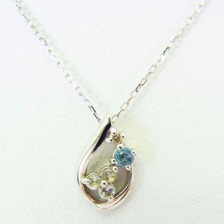 Samantha Tiara - サマンサティアラ K10WG ブルートパーズ ダイヤモンド ペンダント [g98