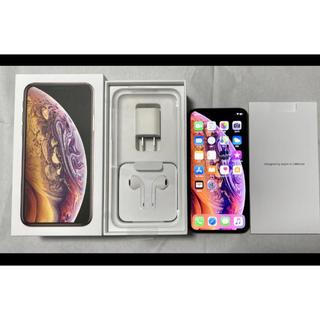 アイフォーン(iPhone)のAU iPhone XS 256GB ゴールド SIMロック解除済み(スマートフォン本体)