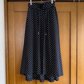 chocol raffine robe - ショコラフィネローブ ドットロング丈スカート