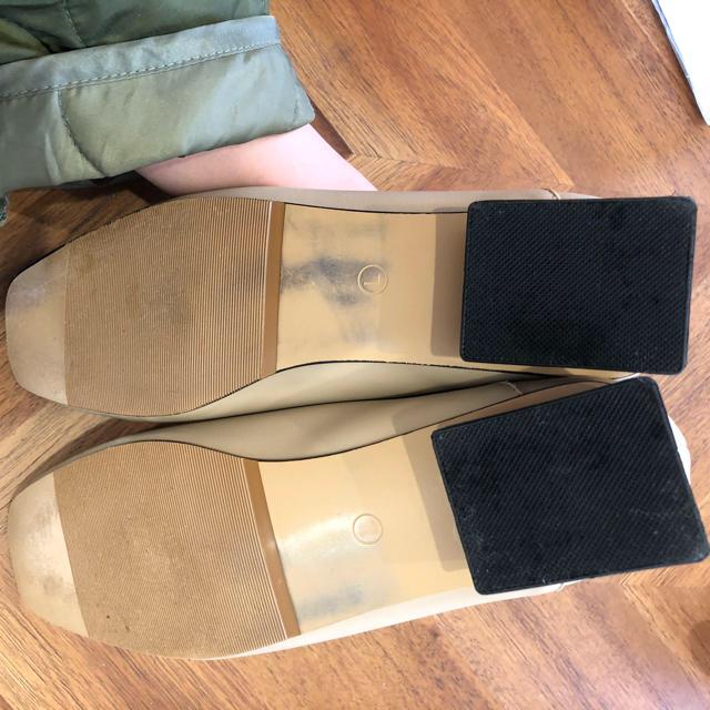 SELECT(セレクト)のselectMOCA セレクトモカ ウッドヒールスクエアトゥパンプス ベージュ レディースの靴/シューズ(ハイヒール/パンプス)の商品写真
