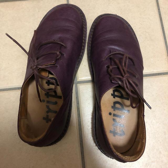 trippen(トリッペン)のトリッペン パープル ハーフェル 39 レディースの靴/シューズ(ローファー/革靴)の商品写真
