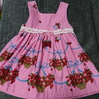 Shirley Temple - 【値下げ】シャーリーテンプル かごいちご ジャンパースカート イチゴ
