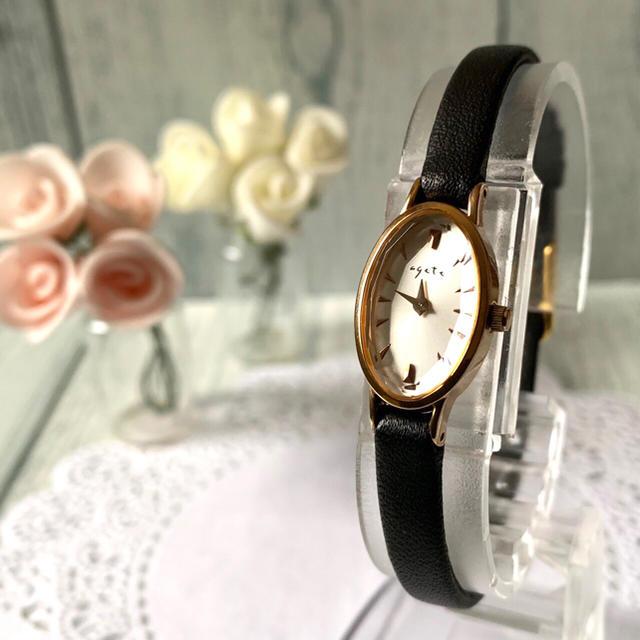 agete - 【電池交換済み】agete アガット 腕時計 オーバル ピンクゴールドの通販