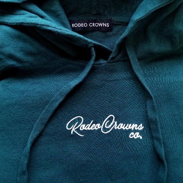 RODEO CROWNS WIDE BOWL(ロデオクラウンズワイドボウル)の限定✩RODEO CROWNS✩RCWB✩ミリタリーパッチパーカーロングTシャツ レディースのトップス(パーカー)の商品写真