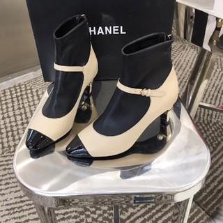 CHANEL - CHANEL ハイヒール ブーツ シューズ 23