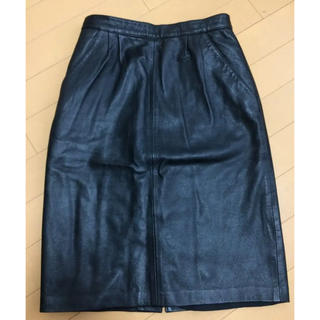 ルシェルブルー(LE CIEL BLEU)の新品 合皮スカート(ひざ丈スカート)