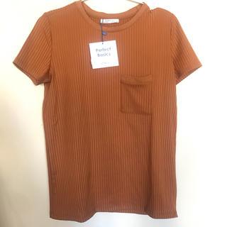 ザラ(ZARA)のZARA オレンジTシャツ(Tシャツ(半袖/袖なし))