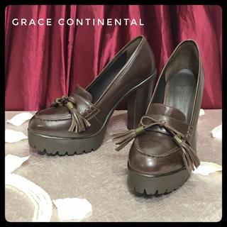 グレースコンチネンタル(GRACE CONTINENTAL)の【GRACE CONTINENTAL】グレースコンチネンタル レザー ヒール(ハイヒール/パンプス)
