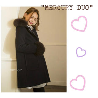 マーキュリーデュオ(MERCURYDUO)の♡FOXファーコート♡マーキュリーデュオ♡Xmas♡デート♡結婚式♡ネイビー♡(毛皮/ファーコート)
