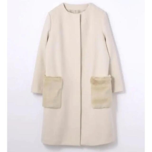 TOMORROWLAND(トゥモローランド)のトゥモローランド  ボールジーロングファーコート レディースのジャケット/アウター(ロングコート)の商品写真