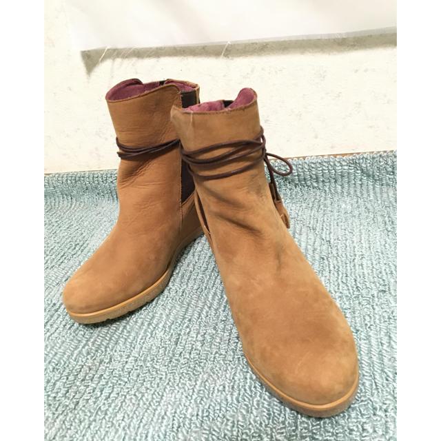 ウェッジ底 カジュアルブーツ/38 レディースの靴/シューズ(ブーツ)の商品写真