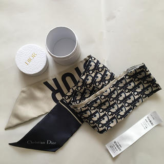 Christian Dior - ディオール ミッツァ スカーフ ツイリー ネイビー  DIOR
