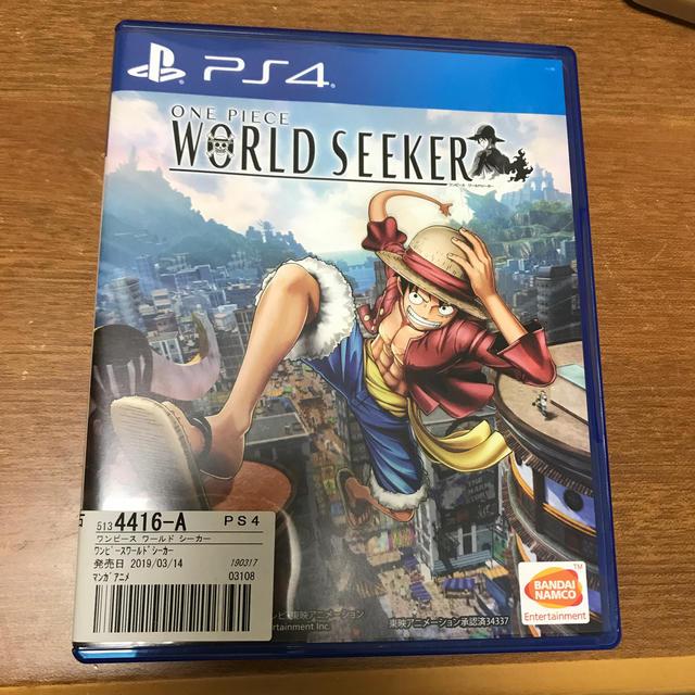 ONE PIECE WORLD SEEKER PS4 エンタメ/ホビーのゲームソフト/ゲーム機本体(家庭用ゲームソフト)の商品写真
