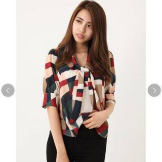 rienda - Geometry Scarf Bow Tie TOP