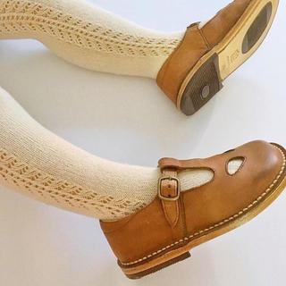 ボンポワン(Bonpoint)の【新品】コンドル サイドオープンワークタイツ(靴下/タイツ)