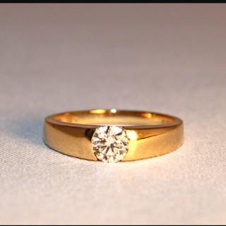 ダイヤモンドリング 一粒ダイヤモンド リング 0.3ct k18 ゴールド