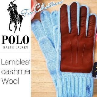 Ralph Lauren - 新品 セール★ ポロラルフローレン 羊革カシミヤウール手袋 クリスマス贈り物に