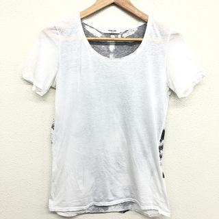 ヘルムートラング(HELMUT LANG)の美品 ヘルムートラング レディース バックプリント Tシャツ サイズ P 白(Tシャツ(半袖/袖なし))