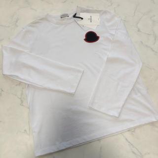 モンクレール(MONCLER)の正規保証 新品未使用 モンクレール BIGワッペンロゴ ロングスリーブ Tシャツ(Tシャツ/カットソー(七分/長袖))
