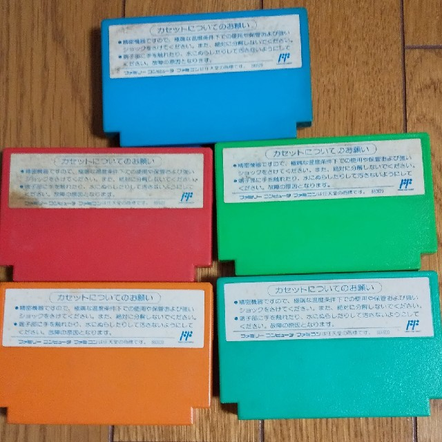 ファミリーコンピュータ(ファミリーコンピュータ)のファミコン ソフト ロックマン1~5 エンタメ/ホビーのゲームソフト/ゲーム機本体(家庭用ゲームソフト)の商品写真