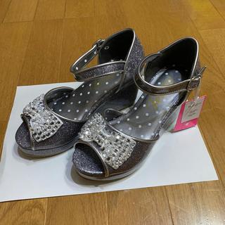 ジェニィ(JENNI)のJENNI キラキラ靴 新品タグ付き 21(ハイヒール/パンプス)