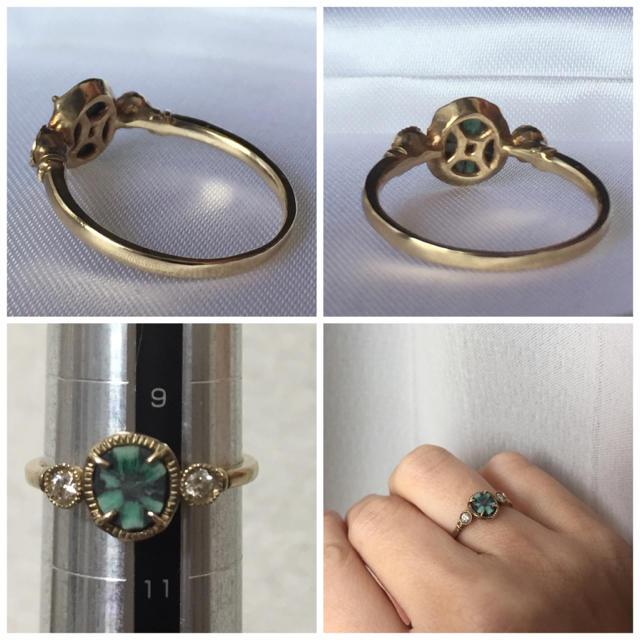 H.P.FRANCE(アッシュペーフランス)のtatsuo nagahata トラピッチェ リング ダイヤモンド ダイヤ レディースのアクセサリー(リング(指輪))の商品写真